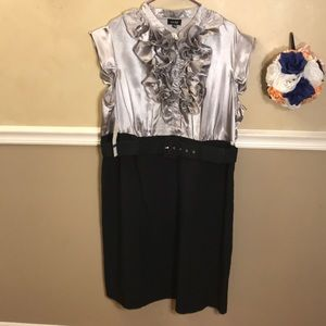 NWT snap ruffle top belted dress